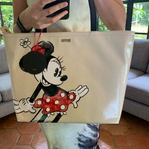 KATE SPADE MINNIE MOUSE FRANCIS TOTE DISNEY BLACK